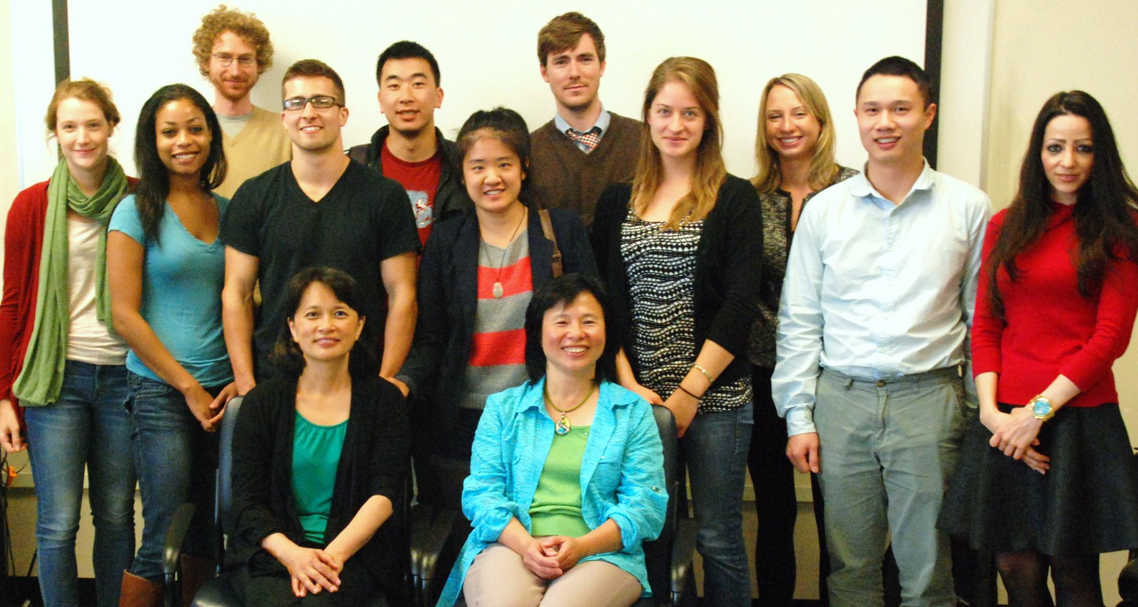 Cohort 5 Class students with Dr. Lily Vhen and Dr. Linda Chen at 2014 orientation meeting