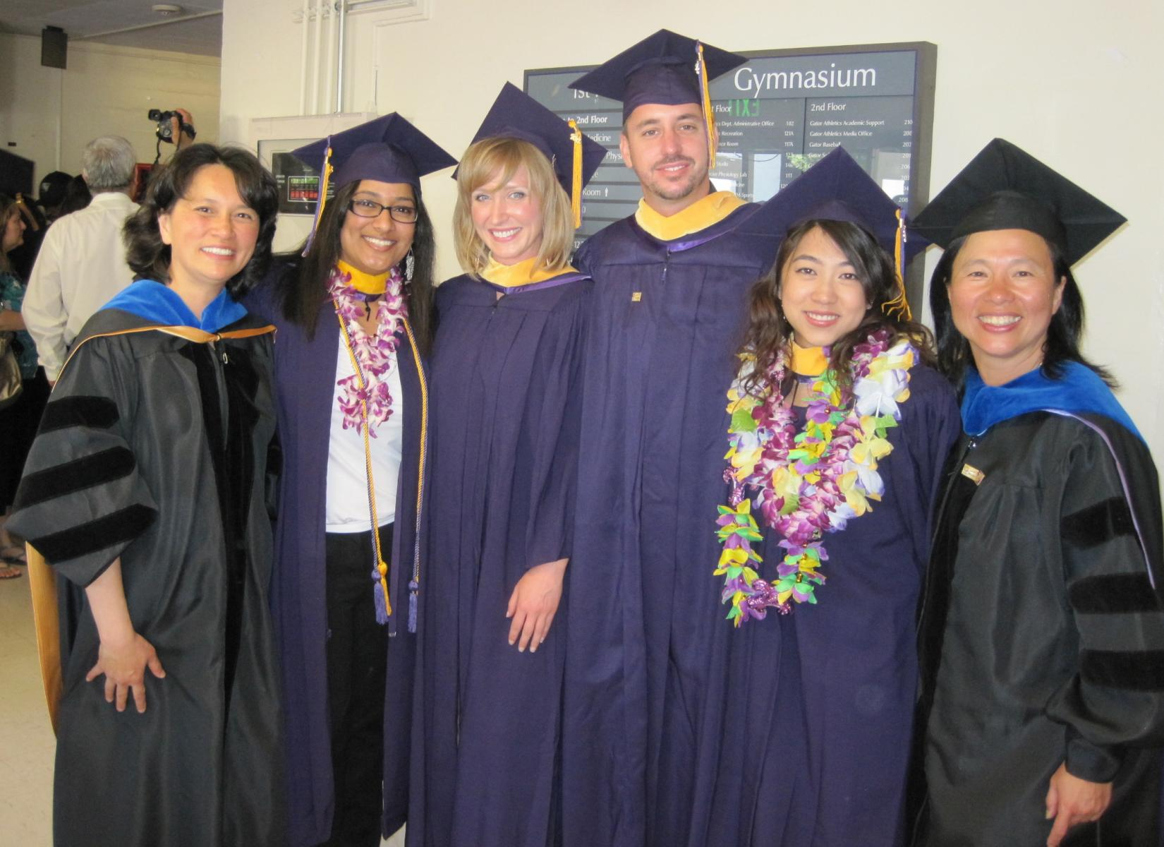 Cohort 1 graduates at Biology Graduation event in May 2012