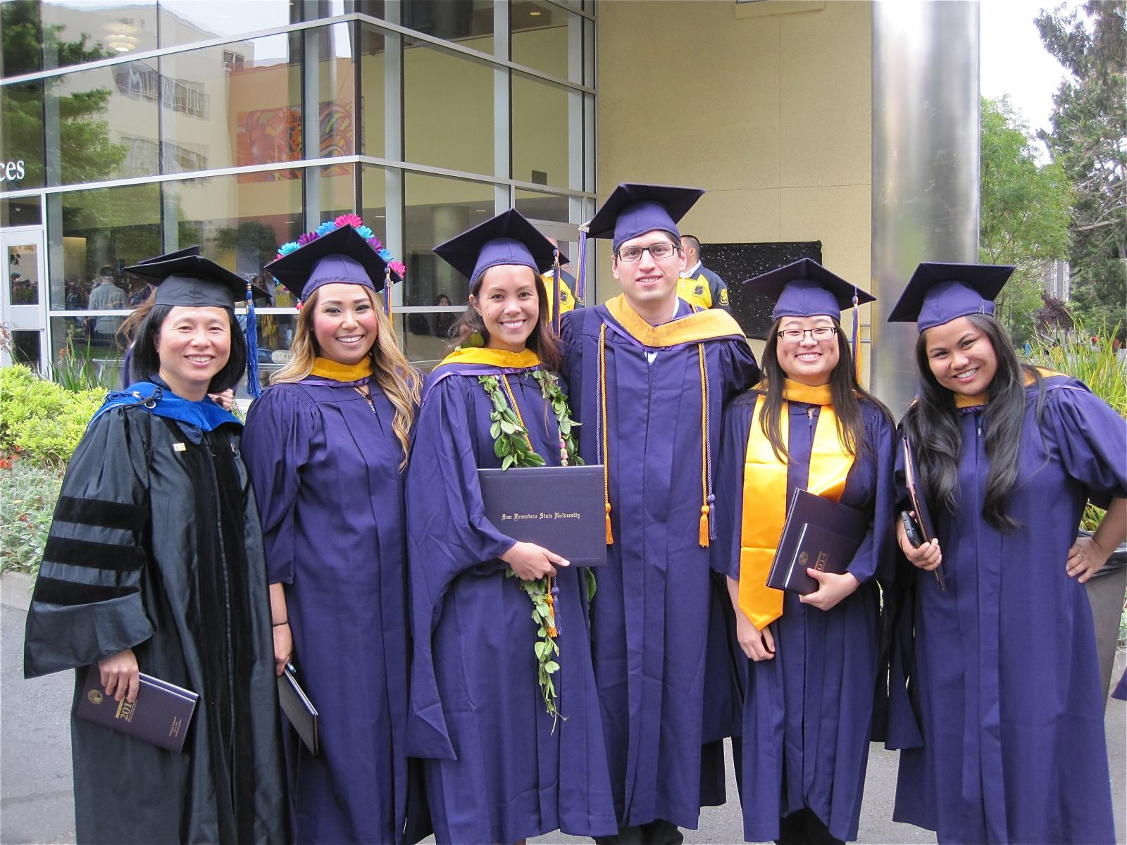 Cohort Class 3 Graduaties at SFSU commencement in SFSU campus
