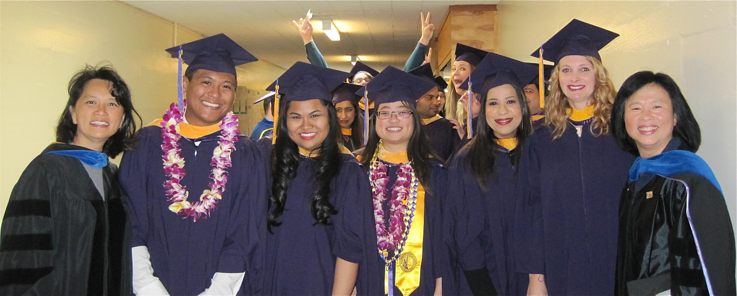 Cohort 3 graduates at Biology graduation event at SFSU gym in May 2014