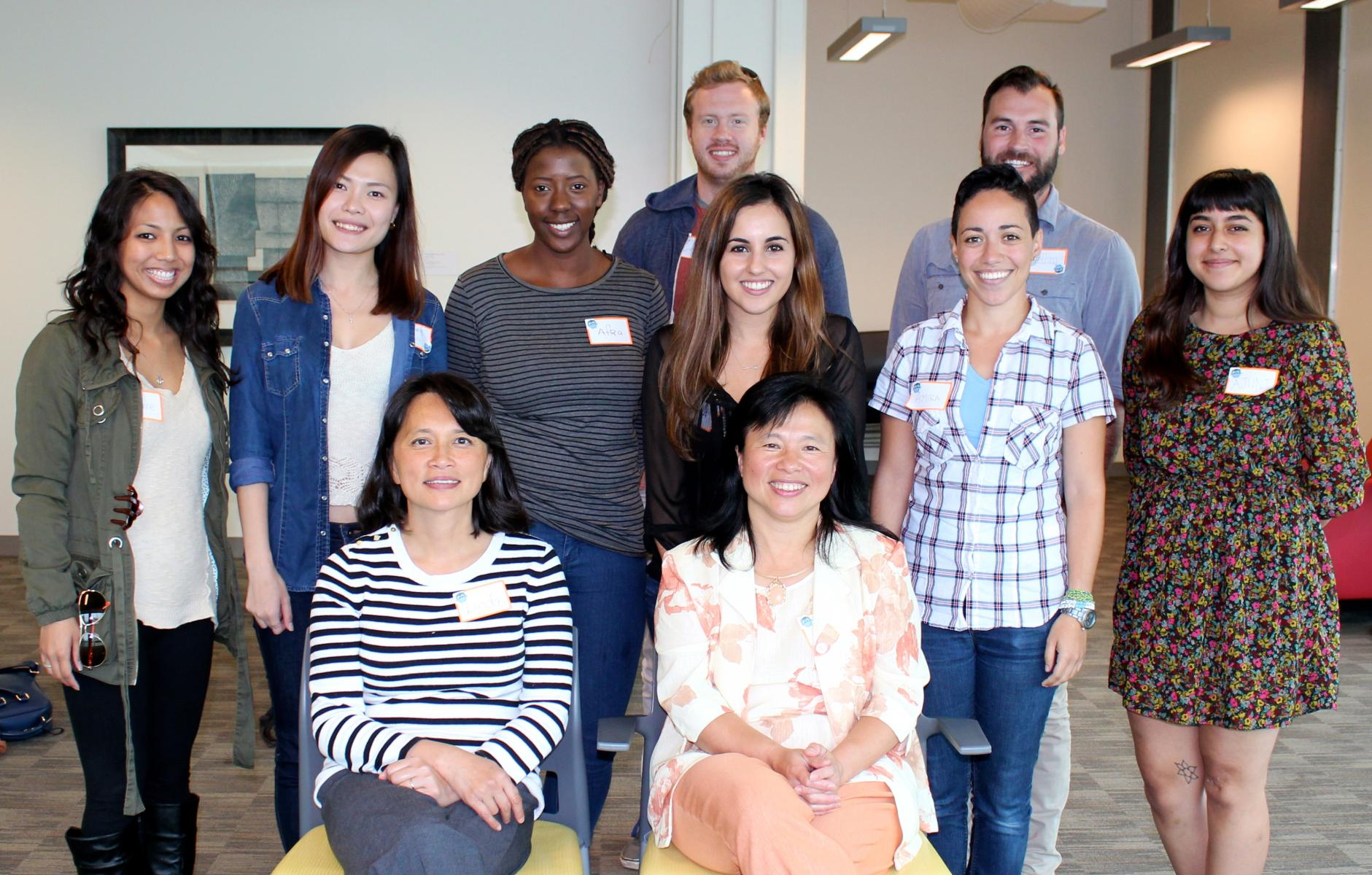 Cohort 6 Class students with Dr. Lily Chen and Dr. Linda Chen at 2015 orientation meeting