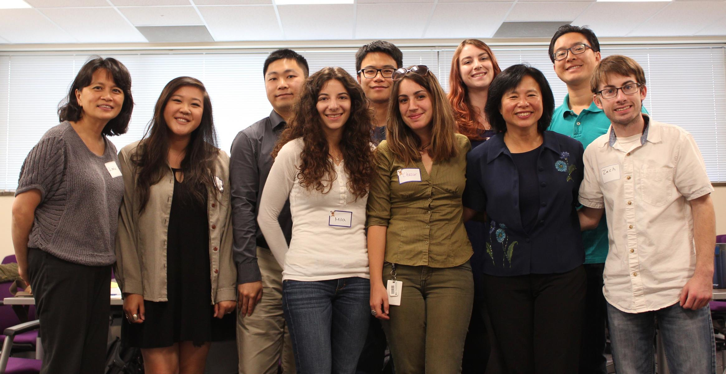 Cohort 8 Class students with Dr. Lily Chen and Dr. Linda Chen at 2017 orientation meeting