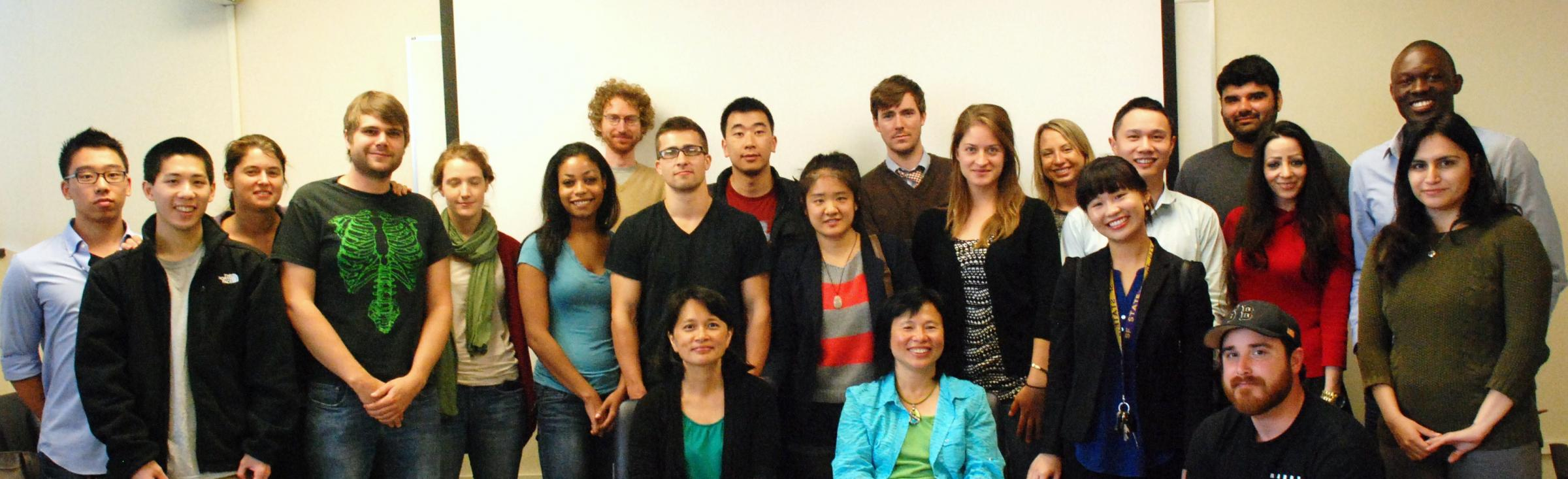 Cohort 5 Class students group photo during the orientation meeting in August 2014