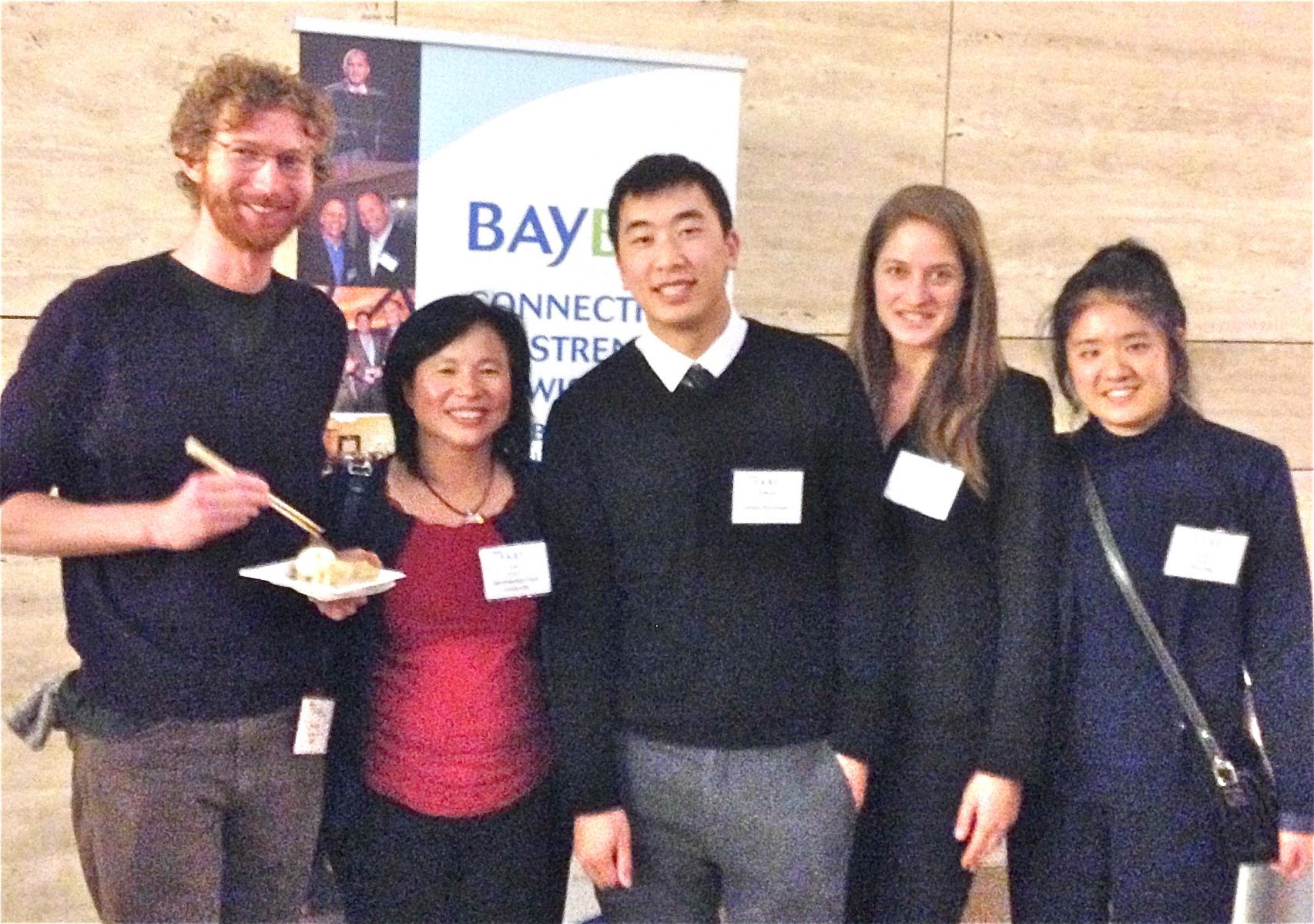 Picture of program's students participated in  in the BayBio Fall 2014 Fellows All-Star Team (FAST) Advisory Program.